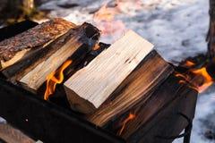 костры Огонь для варить горяче очень стоковое изображение