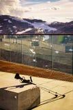 Костыли на открытом воздухе на природе стоковое изображение rf