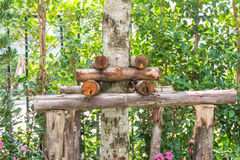 Костыли деревьев используемые для moving деревьев Стоковая Фотография