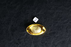 Кость и китайское золото Стоковое Изображение