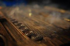 Кость и нард таблицы игры handmade играя в азартные игры Стоковое Фото