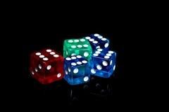 Кость казино Стоковое Фото