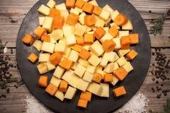 Кость моркови и шведа Стоковая Фотография