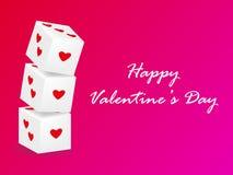 Кость любит вектор, день валентинок, розовую предпосылку валентинки Стоковая Фотография RF
