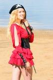 костюмированная женщина Стоковые Фото