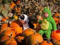 костюмирует малышей halloween Стоковое Изображение