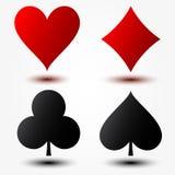 Костюмы играя карточек. Иллюстрация вектора Стоковое Изображение RF