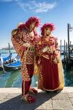 Костюмы масленицы Венеции Стоковые Изображения RF
