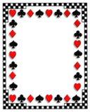 костюмы покера играть карточек граници Стоковое фото RF