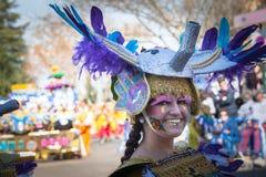 Костюмы фантазии в параде масленицы стоковое фото rf