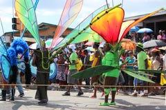 Костюмы фестиваля Cropover в Барбадос Стоковая Фотография