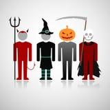Костюмы хеллоуина Стоковая Фотография
