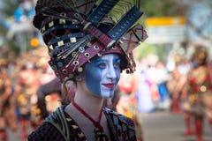 Костюмы Braveheart в параде масленицы стоковое фото