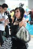 Костюмы Cosplayers нося и аксессуары моды на аниме Exp Стоковое Изображение RF