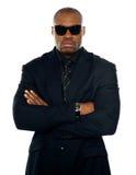 костюм африканского бизнесмена серьезный стоковое изображение