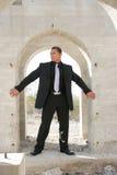костюм бизнесмена уверенно красивый Стоковое Изображение RF