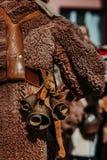Костюм болгарской масленицы праздника животный для того чтобы вспугн стоковые изображения rf