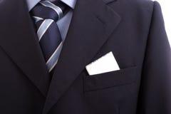 костюм визитной карточки Стоковая Фотография