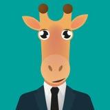 Костюм воплощения жирафа нося иллюстрация вектора
