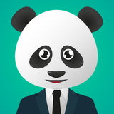 Костюм воплощения панды нося Стоковое Изображение