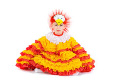 костюм девушки цыпленка Стоковые Изображения