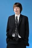 костюм дела мальчика подростковый Стоковые Изображения