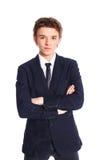 костюм дела мальчика подростковый Стоковая Фотография