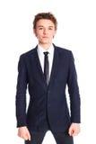 костюм дела мальчика подростковый Стоковые Фотографии RF