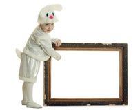 костюм зайцев мальчика Стоковое Изображение