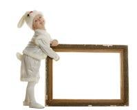 костюм зайцев мальчика Стоковое Изображение RF