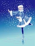 костюм катка девушки шерсти катаясь на коньках Стоковая Фотография RF