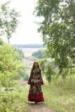 костюм красивейшей девушки имбиря цыганской с волосами Стоковые Фотографии RF