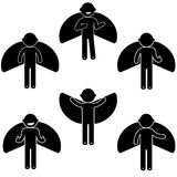 Костюм одежды знака значка людей позиции человека основной Стоковая Фотография