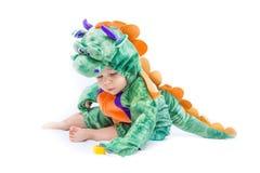 Костюм дракона младенца Стоковая Фотография