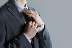 костюм серого цвета бизнесмена Стоковая Фотография RF