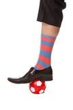 костюм футбола человека ноги шарика Стоковое Изображение