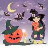 КОСТЮМ ХЕЛЛОУИНА иллюстрации вектора цвета хеллоуина установленный бесплатная иллюстрация