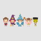 Костюм хеллоуина детей Бесплатная Иллюстрация