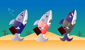 костюм 2 акул акулы закона Стоковые Фотографии RF