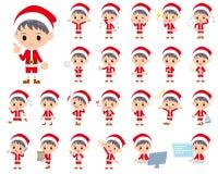 Костюм boy_1 Санта Клауса иллюстрация вектора