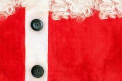 костюм claus близкий золотистый частично santa пояса вверх по взгляду Стоковые Фотографии RF