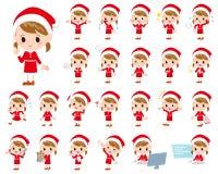 Костюм girl_1 Санта Клауса иллюстрация вектора