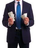 костюм mo удерживания бизнесмена Стоковое Фото
