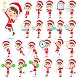 Костюм mom_2 Санта Клауса иллюстрация вектора