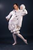 Костюм Pierrot изолировано Стоковое Изображение