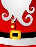 костюм santa профиля claus 2 животов большой иллюстрация вектора