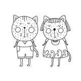 2 кота мальчик и девушка Стоковое фото RF