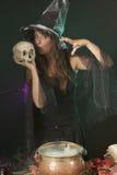 Котел ведьмы Halloween Стоковые Изображения RF