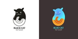 Котенок логотипа Стоковые Фотографии RF