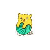 Котенок логотипа Стоковые Фото